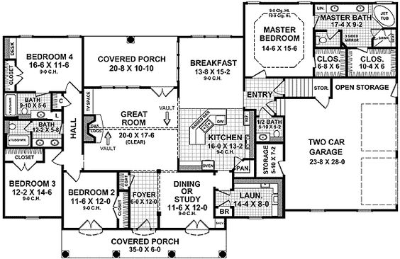 Plan 5181mm traditional country home plan traditional for Usda approved builders