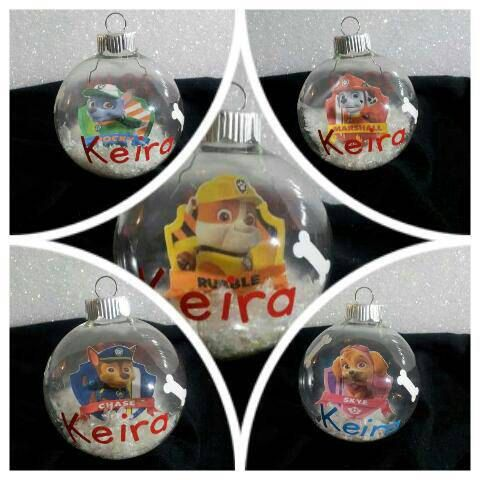 personalizedchaseornamentpawpatrolbybitsnpiecesbyskon - Paw Patrol Christmas Decorations