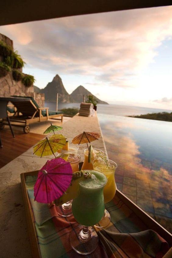 Top 10 Caribbean Resorts > Jade Mountain, St. Lucia