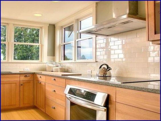 kitchen tile backsplash ideas with maple cabinets - Google ... on Modern Kitchen Backsplash With Maple Cabinets  id=86016