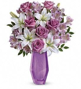 Lavender Roses, White Lilies, Lavender Alstro: