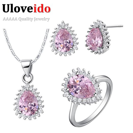 Find More Jewelry Sets Information about Heart Necklace Sets with Purple Rhinestone Chinese Silver Jewelry Pink Bijuterias for Women Accessories 8 Colors Ulove T530,High Quality jewelry moissanite,China jewelry doctor Suppliers, Cheap jewelry lanyard from ULOVE Fashion Jewelry on Aliexpress.com