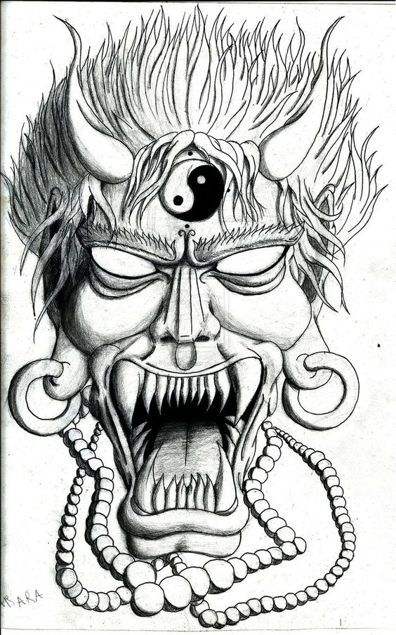oni mask drawing google search hannya mask pinterest search drawings and google. Black Bedroom Furniture Sets. Home Design Ideas
