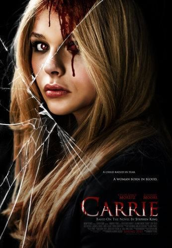 Carrie (2013). Starring: Julianne Moore,	 Chloë Grace Moretz, Gabriella Wilde and Derek McGrath