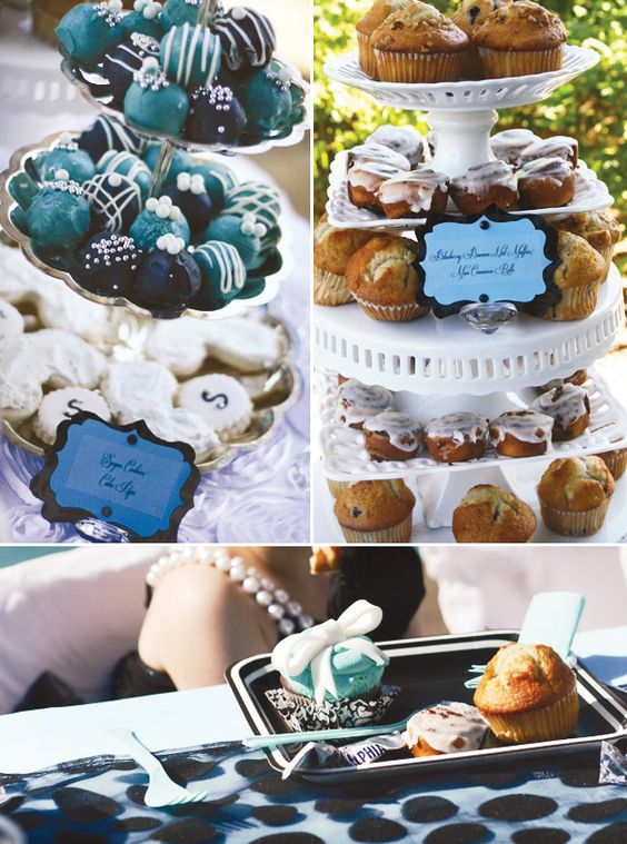"For my daughter Savannah's 6th Birthday party we went with a Breakfast at Tiffany's theme, complete with a Audrey Hepburn inspired photo shoot for her invitations and to display at her party. The main thing I wanted was for my girly princess to have the most girly party possible. We set up a ""Dress Up"" table, with faux diamond rings, pearl necklaces, and bracelets. A ""Hair-do"" station where every girl was treated to an ""Audrey"" inspired up do complete with crown. The girls adopted a ""cat"" of…"
