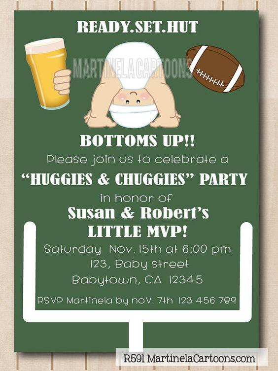 Beer And Diaper Party Invitations - Premium Invitation ...