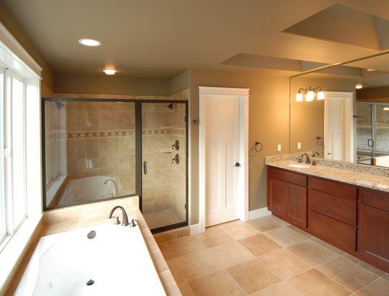 5-piece master bathroom.