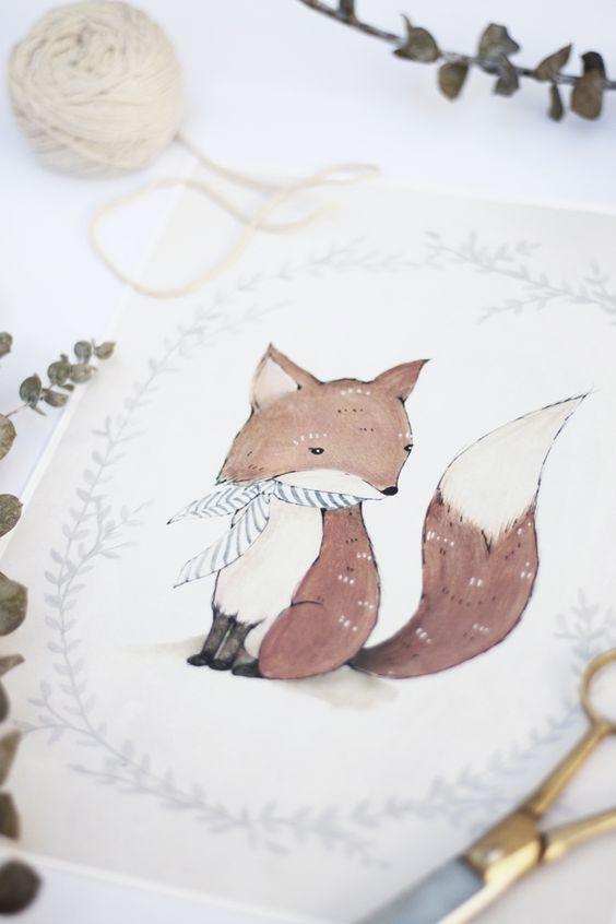 mr fox cards by Kelli Murray