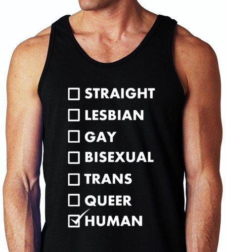 Straight Lesbian Gay Bisexual Trans Queer Human Gay by ALLGayTees