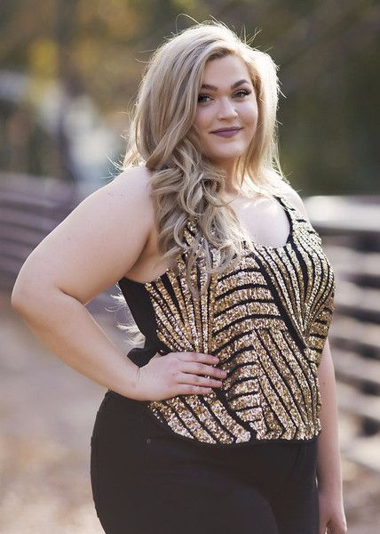 Plus Size Clothing for Women - Loey Lane Glitz and Gold Top (Sizes ...
