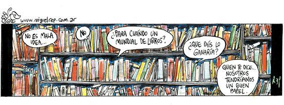 Mundial de libros, por Rep, en Página 12 del 26/3/14