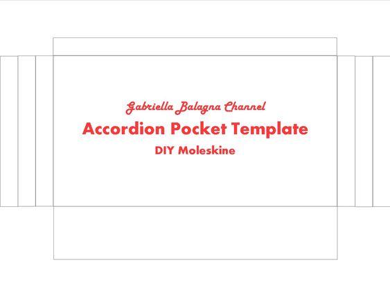 Diy Moleskine Pocket Template Printing Tips Print The