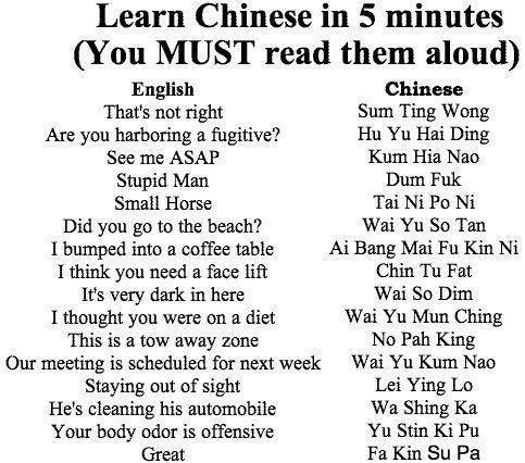 English - Chinese