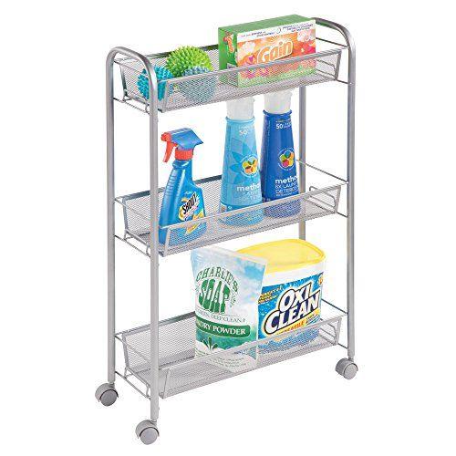 Mdesign Portable Slim Rolling Laundry Utility Cart Organi Https