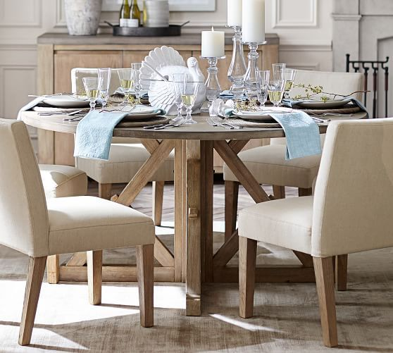 Brooks Round Pedestal Dining Table Round Concrete Dining Table