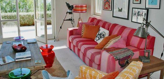 colourful interiors of a house designed by skoposdesign.com