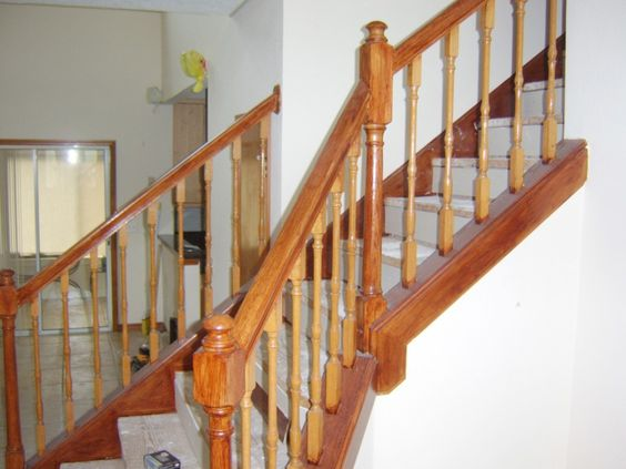 Magnificent Wooden Staircase Spindles For Staircase Design And Decoration Ideas: Simple And Neat Interior Stair Design And Decoration Using Light Grey Staircase Runner Width Including Solid Light Oak Wood Railing And Solid Light Oak Wooden Staircase Spindles  ~ martyshome.com Stair Inspiration