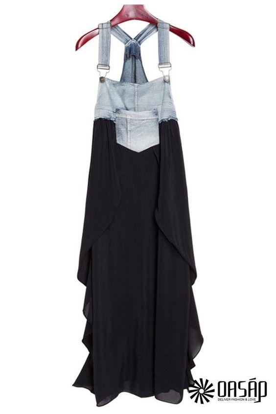 denim-paneled-suspender-dress