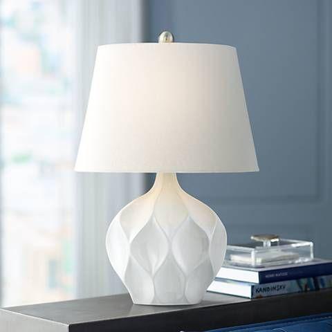 Dobbs White Ceramic Accent Table Lamp #39T67 | Lamps Plus