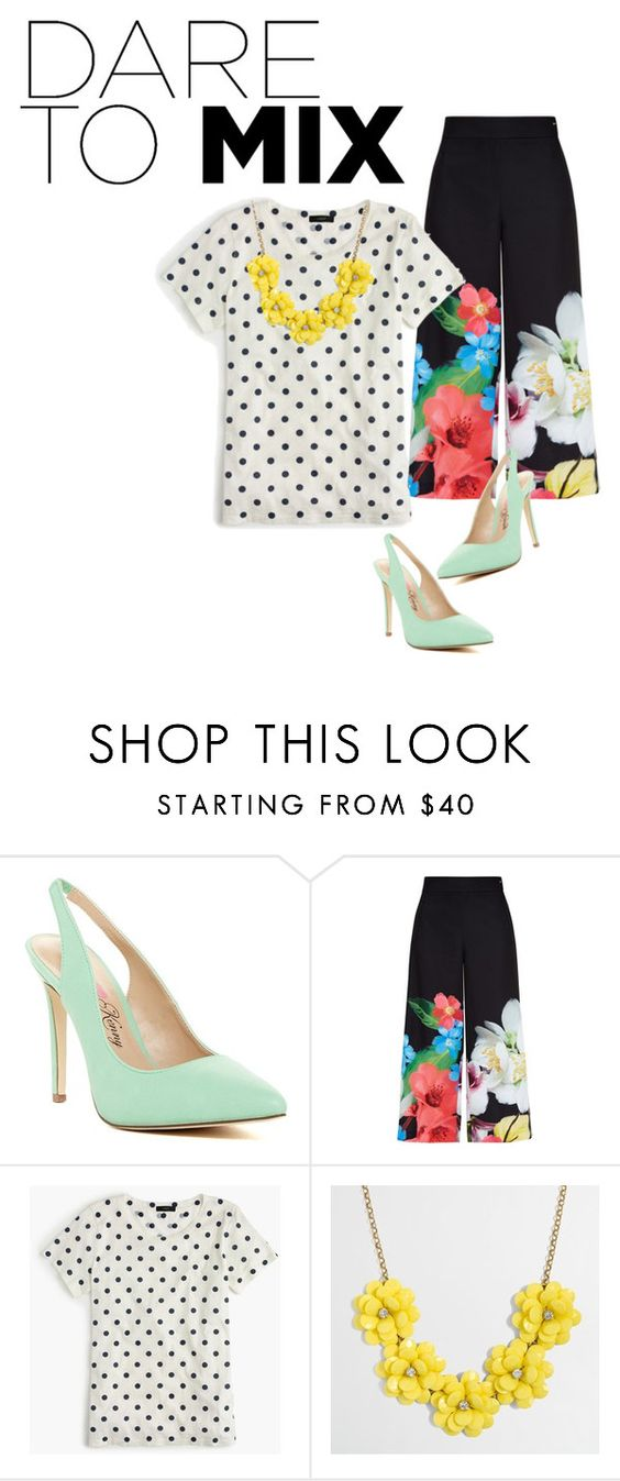 """""""Untitled #51"""" by myespression ❤ liked on Polyvore featuring Penny Loves Kenny, Ted Baker, J.Crew and patternmixing"""
