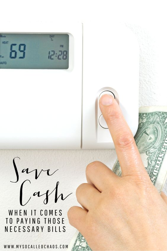 No matter how much you want to save, there are always bills you have to pay... Here's how you can save cash on electricity, food, heating, AC, and more... http://mysocalledchaos.com/2016/06/save-cash-on-bills.html