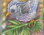 Owlette OPHIRA PRINT 8 x 10 by Mandy Saile by MandySaile on Etsy