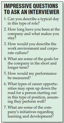 Good questions for an interviewer.