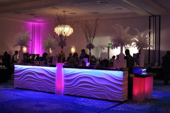 Custom Built Bar, currently available throughout NJ, NYC & CT from Couture Event Rentals.