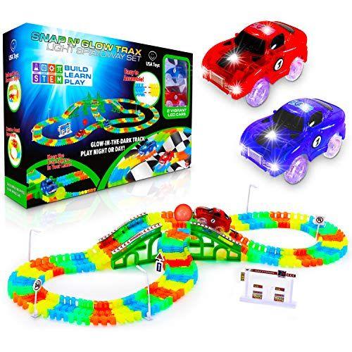 Usa Toyz Glow Race Tracks For Boys And Girls 360pk Stem Https Www Amazon Com Dp B07qns5v4c Ref Cm Sw R Pi Dp U X 3i4wdb1d Led Toy Toy Car Race Car Track