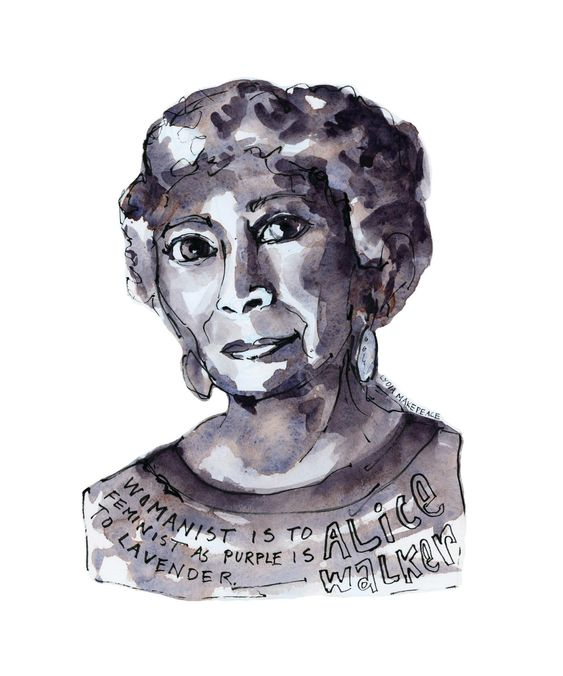 Alice Walker Quote Art Womanist Is To Feminist As Purple Is | Etsy