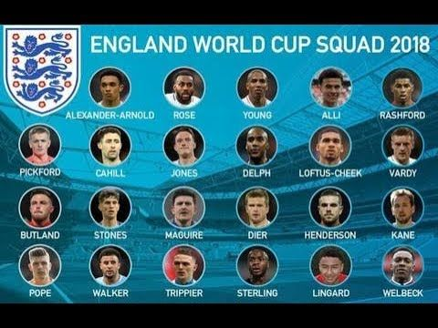 Final England Football 23 Man Squad For World Cup 2018 England Team England World Cup 2018 England World Cup Squad World Cup 2018 Teams