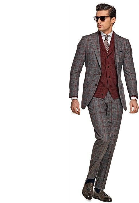 BW-Suit Grey Check Lazio P3684i | Suitsupply Online Store Simply