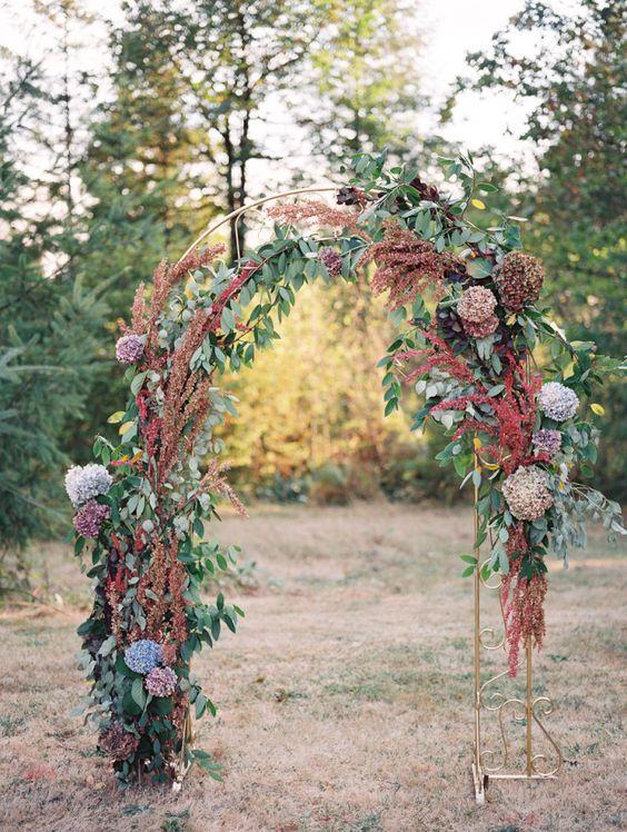 Autumn wedding ceremony decoration ideas | i take you