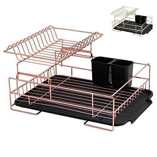 Copper Drying Rack 2 Tier Dish Drying Rack Large Dish Rack And