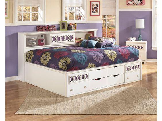 Full Bedside Storage Bed