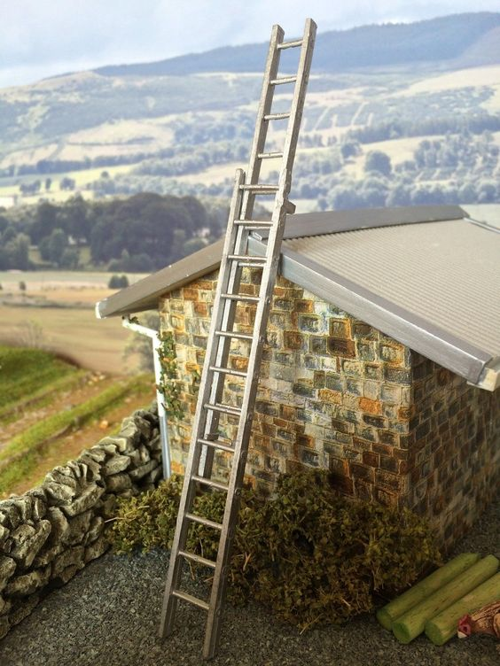 Extendable ladder Ladder and Dioramas on Pinterest