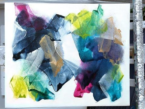 New Abstract Painting Techniques Using Acrylics Timelapsed