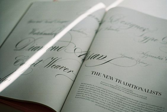 Calligraphy in magazines - Repinned by UXSherlock.