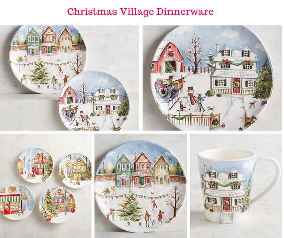Christmas Village Dinnerware
