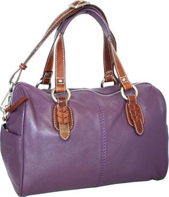 Nino Bossi Over a Barrel Satchel Grape - via eBags.com!