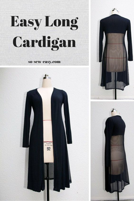 The easy long cardigan has been around since the seventies and keeps coming back…