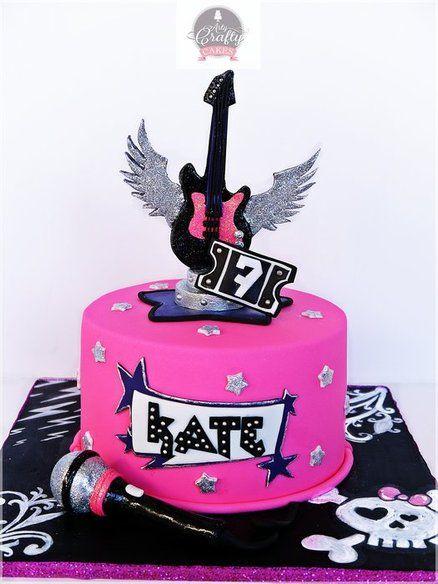 GLAM ROCK&ROLL - by ArtyCraftyCakes @ CakesDecor.com - cake decorating website