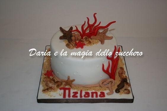 #Torta mare #Sea cake #Coral sea cake #Stelle marine #Starfish #Corallo #Torta coralli stelle marine #Torta corallo #Torta stelle marine