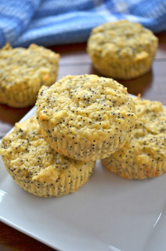 Lemon Poppyseed Protein Muffins - 100 calories each.  Must bake these....mmmmm