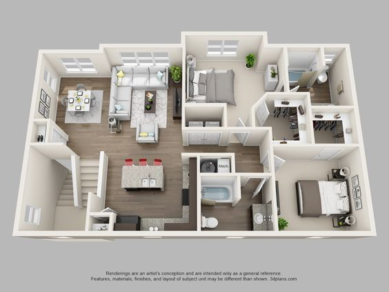 B4 Hyde 2b 2b W Attached Garage 1 396 Sf House Layouts Sims House Design My House Plans