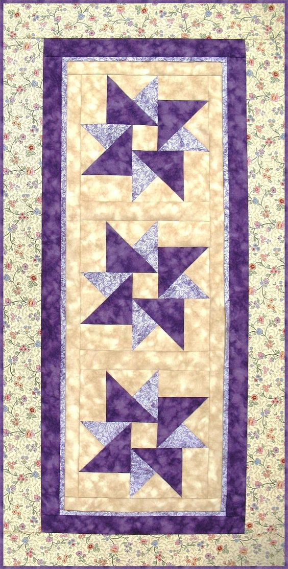 Runners Patterns And Wall Hanging Quilts On Pinterest