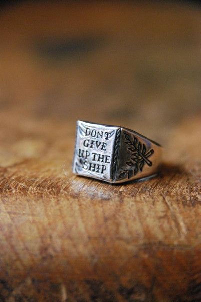 Digby & Iona RSHIP Digby & Iona Don't Give Up The Ship Ring | Cool rings  for men, Rings for men, Rings