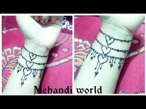 رسم تاتو بالحناء جميل وبسيط نقش حناء للعيد الحب Tattoo Mehandi Design 2 Youtube Mehandi Designs Mehendi Designs Triangle Tattoo