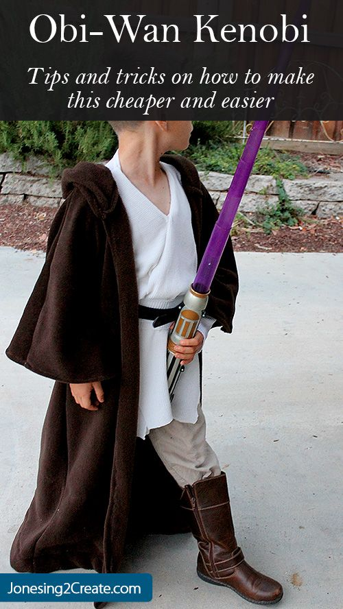 This Obi Wan Kenobi Costume is perfect for a boy! I love how you can make the tunic using a set of thermals. Genius!