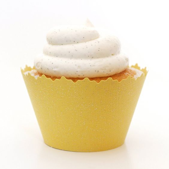 Glitter Sun Yellow Shimmer Cupcake Wrappers - Set of 12 - Cup Cakes Shine w/ Picks, Stands and Liners * Check out this great image @ - Baking tools